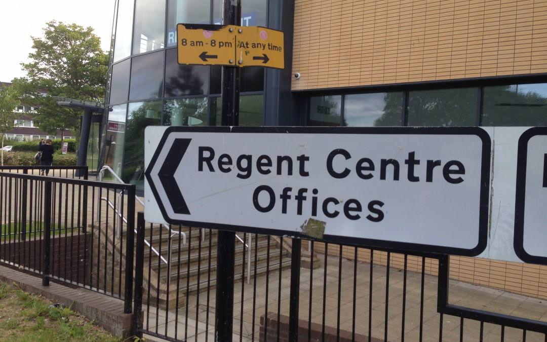 Regent Centre Offices Sign