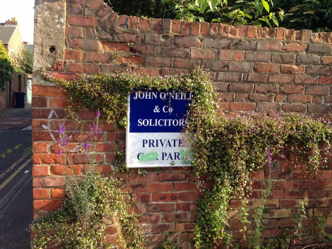 Back lane of John O'Neil & Co Solicitors